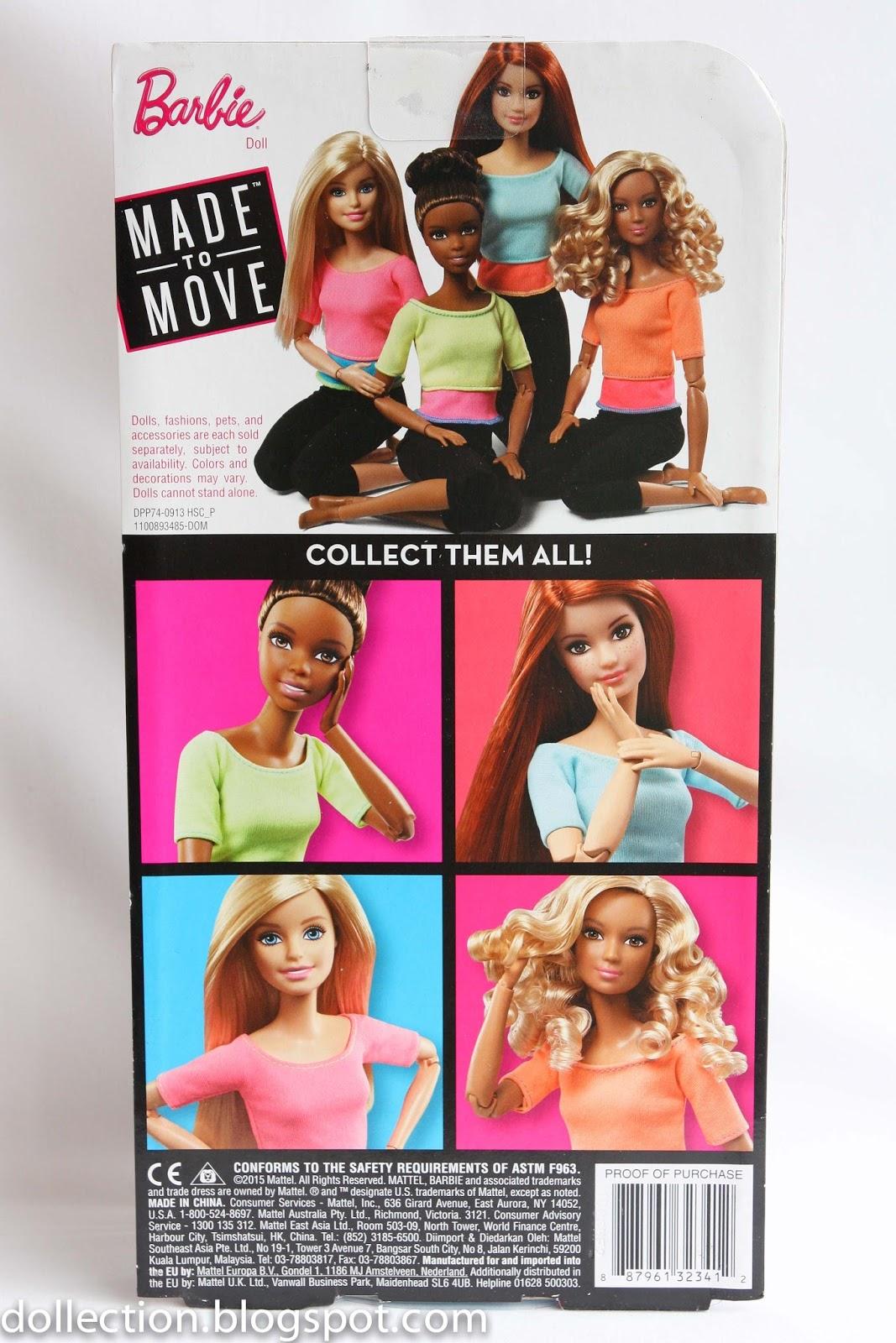 Barbie Made to Move Barbie Doll Light Blue Top